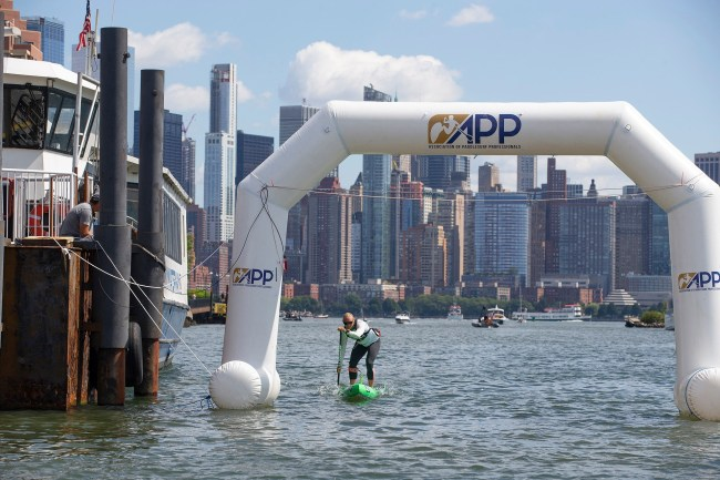 April Zilg NY SUP Open APP World Tour arch