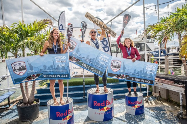 April Zilg Seychelle Fiona Wylde NY SUP Open winners