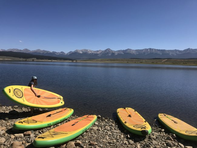 Gunnison Colorado stand up paddling