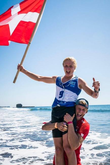 Christian Anderson Casper Steinfath ISA Junior SUP World Champion Denmark
