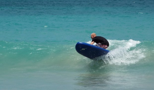 Tez iSUP surfing Grenada, Grand Anse Beach, Caribbean, Spice Isle