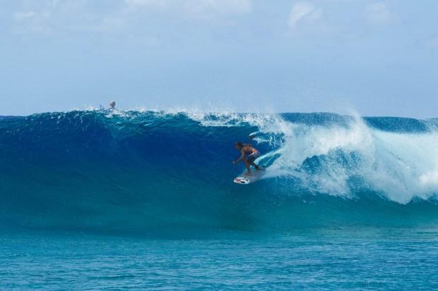 Marshall Islands SUP barrel Bernd Roediger