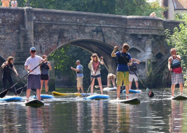 Norfolk Broad SUP Club group paddle