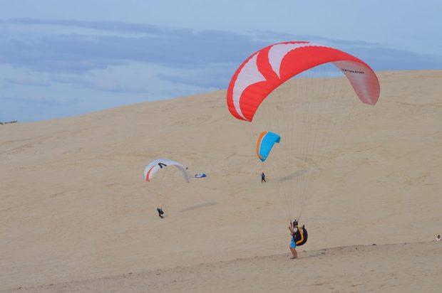 Reuben May paragliding