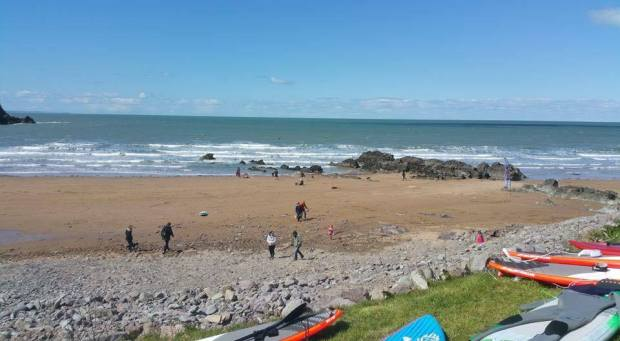 Putsborough windy surf