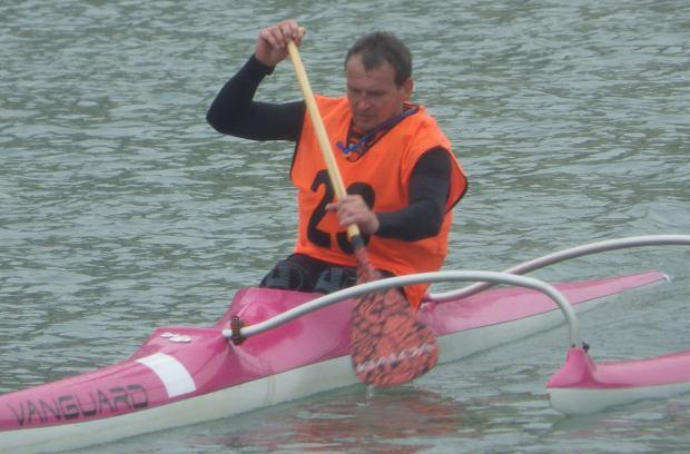 John Galilee hard OC1 paddling