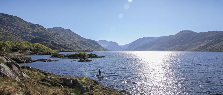 SUP wilderness in Scotland