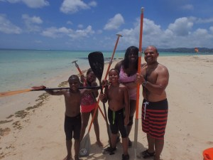 Family Learns to Stand Up Paddle