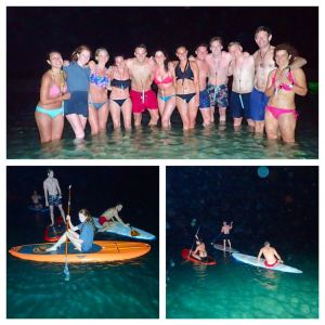 Group fun at night