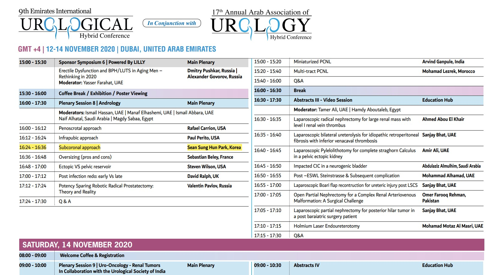 AAU-EUS Conference for erectile dysfunction surgery