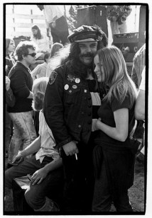 Ron %22Pigpen%22 McKernan of the Grateful Dead and friend laughing backstage at Human Be-In