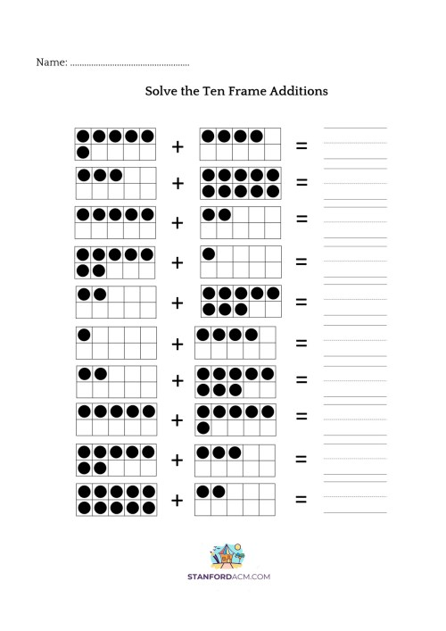 small resolution of 10 Frame Addition Worksheet   Printable Worksheets and Activities for  Teachers