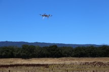 Hexacopter in midair