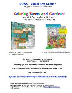 Coloring Book Workshop