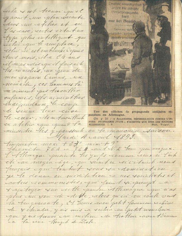 Autodafés De 1933 En Allemagne : autodafés, allemagne, 1933,, Avril,, Propagande, Anti-juive, Autodafé, Journal, Tanis, Mémoires, 1921-1939