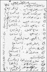 """An excerpt from Al Qaeda's donor's list, the """"Golden Chain,"""" discovered in Sarajevo, March 2002."""