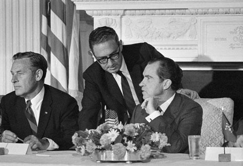 Кисинџер са својим шефом, Ричардом Никсоном, 1970.