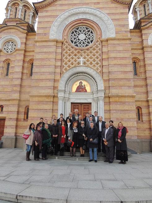 Учесници скупа у Бањалуци у организацији Фонда Гочакова и удружења Српско-руски мост