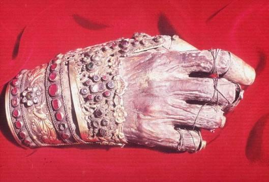 Рука светог Јована Златоустог (кликните за већу слику)
