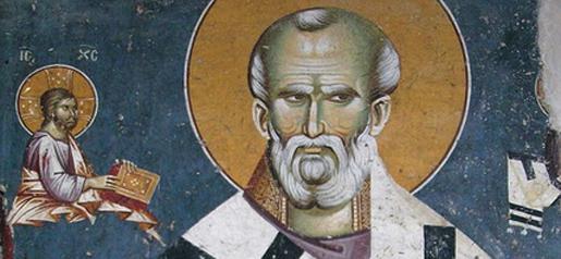 Св. Николај, фреска, Пећка патријаршија