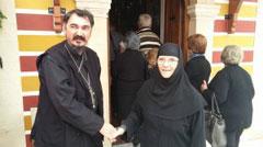 Егинска монахиња Мариам и прота Ненад Андрић
