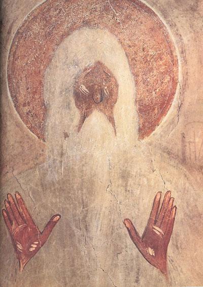 Свети Макарије, остаци фреске Теофана Затворника, Црква Преображења, 1378. година, Велики Новгород, Русија