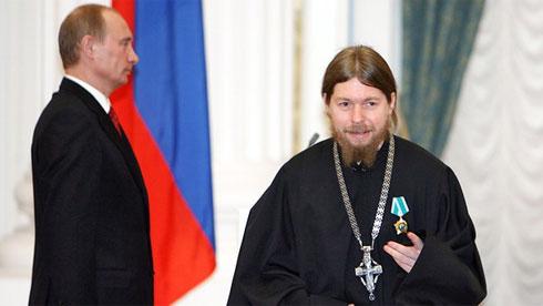 Владимир Путин и архимандрит Тихон