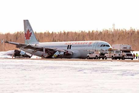 Хелифакс, 29.03.2015 - авион Ер Канаде Ербас А-320 излетео је са писте приликом слетања на аеродром у Хелифаксу, Канада. Према изјави званичника 23 особе су пребачене у болницу због мањих повреда