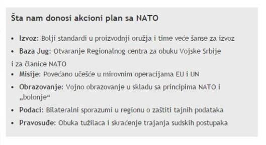 """Шта све добро доноси акциони плат са НАТО, по """"Блицу"""""""