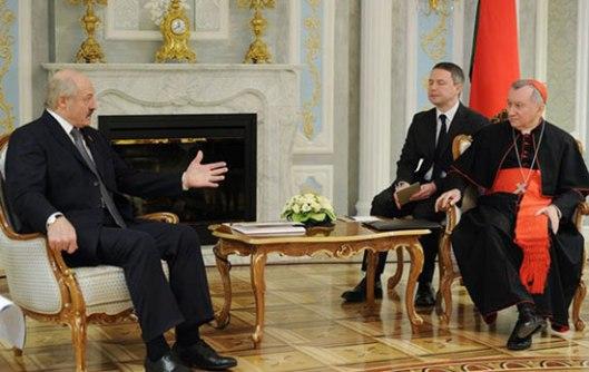 Разговор Белоруског председника Лукашенка и кардинала Паролинија у Минску
