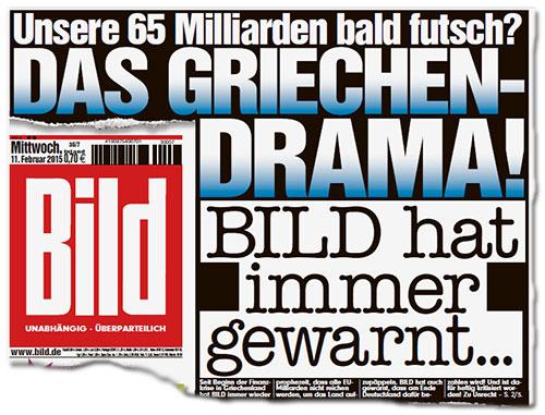 Grčka drama! Bild je oduvek upozoravao,Bildblog