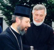 Владика Игнатије и прота Радомир Милошевић