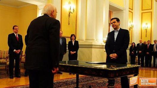 Ципрас је први грчки премијер који је одбио да положи заклетву на Библији