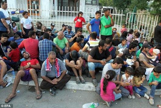 Мигранти у српском граду Прешеву
