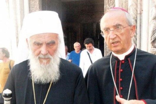 Патријарх Иринеј и надбискуп Пуљић (Фото: Надбискупија задарска)