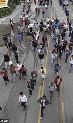 Мигранти у Будимпешти