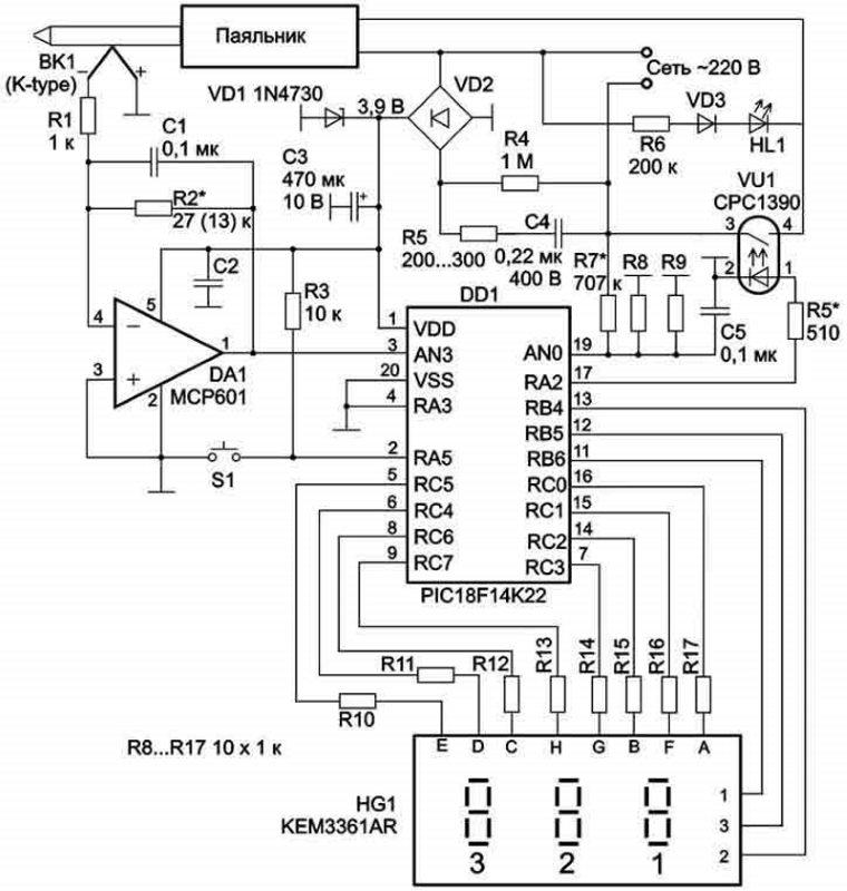 Lödstationsschema