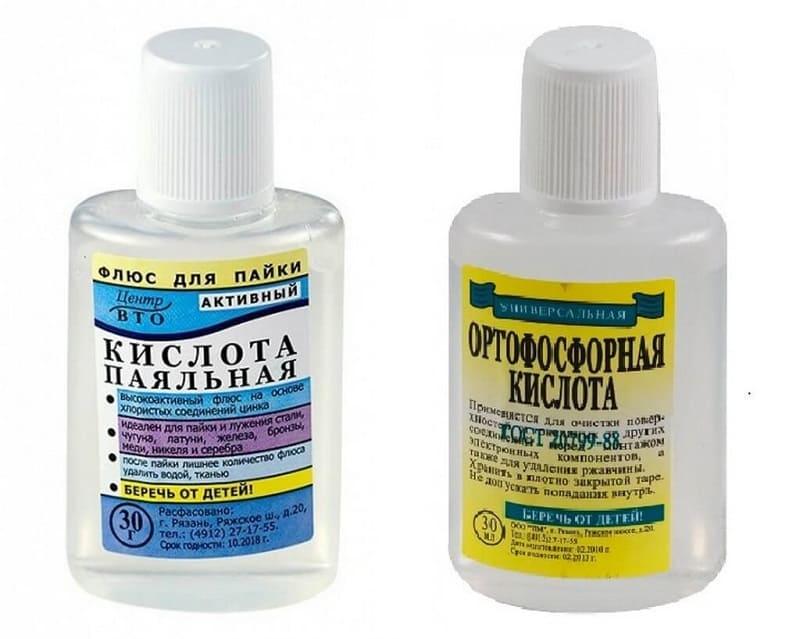 Ortofosforické a pájecí kyseliny