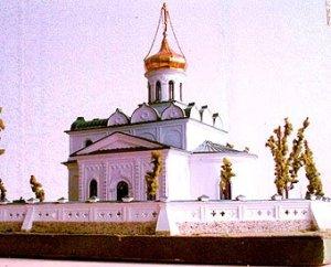 макет восстанавливаемого Свято-Никольского храма в Станьково