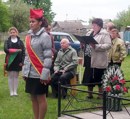 Митинг-реквием на месте гибели Марата Казея в деревне Хоромицкие