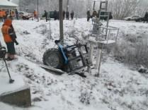 ДТП на железнодорожном переезде вблизи Дзержинска