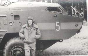 Первая офицерская должность — начальник расчета пусковой установки, 1989 год