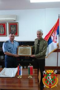 Официальная встреча с коллегами из Министерства обороны Сербии, г. Белград, 2015 год