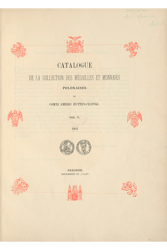 Catalogue De la collection des médailles et monnaies Polonaises Du Comte Emeric Hutten-Czapski vol.5