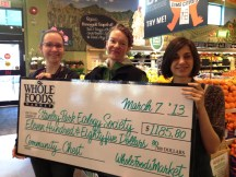 SPES receiving cheque at Whole Foods Market Robson