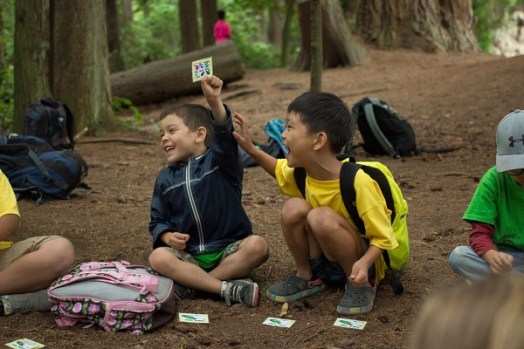 SDC August 2015 Campers playing Salmon Lottery