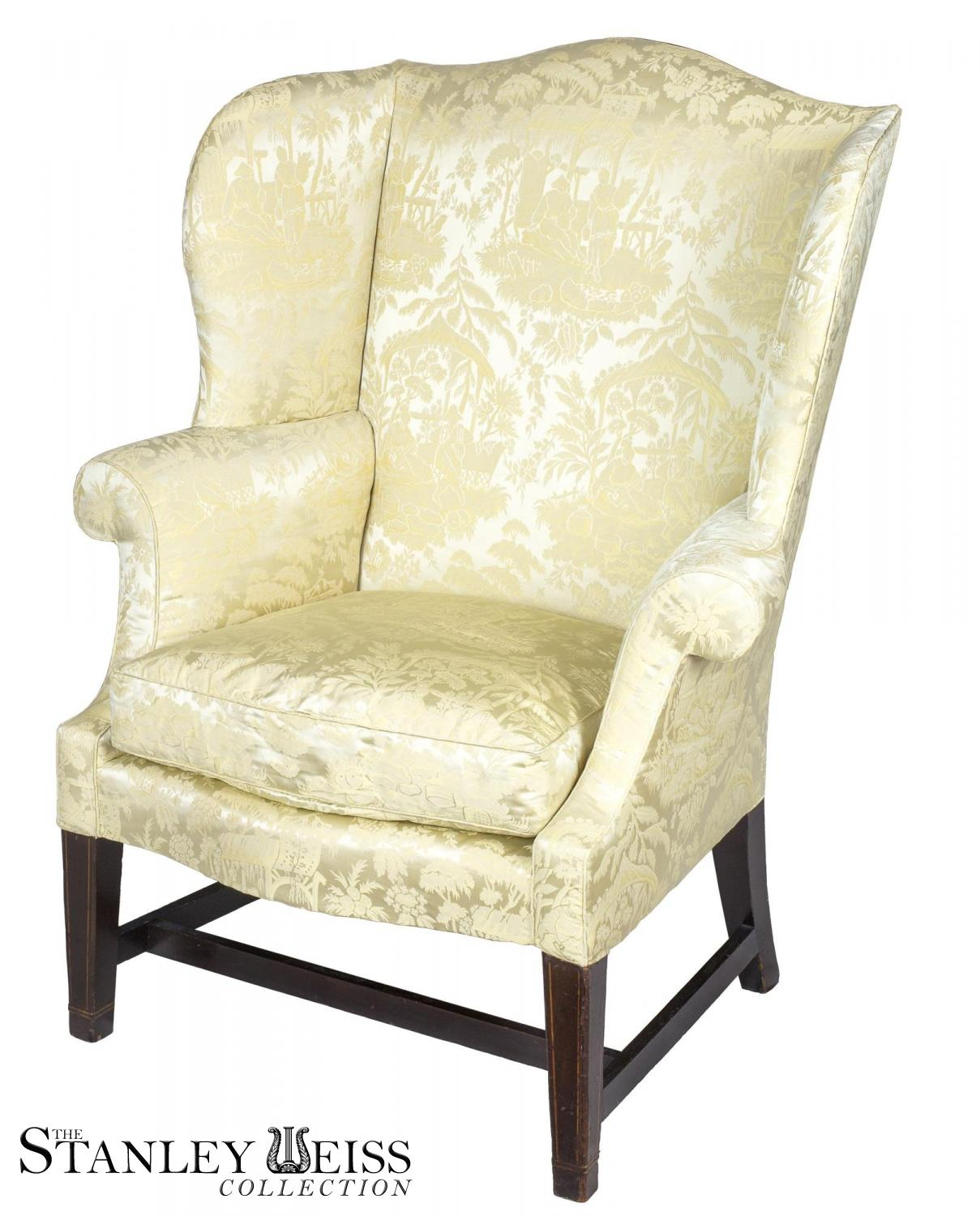 small scale upholstered dining chairs recliner chair a hepplewhite inlaid mahogany wing