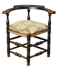 SWC-Rare Painted Maple William & Mary Corner Chair, New ...