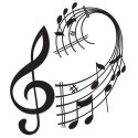 Treble Clef Pattern Logo