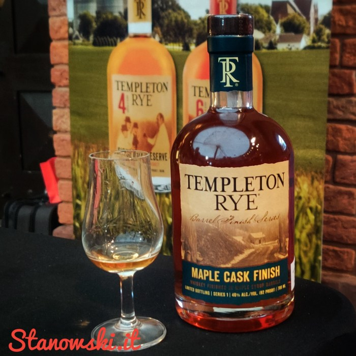 Templeton Rye Maple Cask